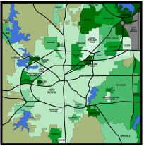 Map of Tarrant County