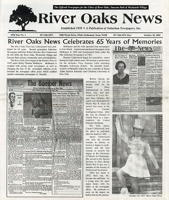 River Oaks News, 2004