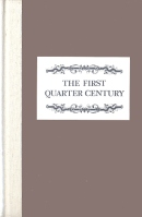 The First Quarter Century Book Cover
