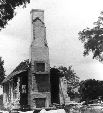 Ruins of the Beckett Hourse in Grapevine Texas