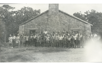 Camp-Carter-group-outside-Mess-Hall (015-033-593-001)