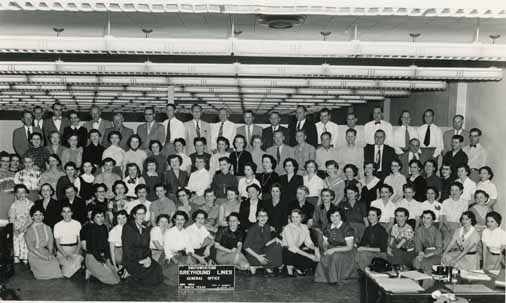 Southwestern Greyhound Lines Company, Fort Worth Office Group Photograph, 1954