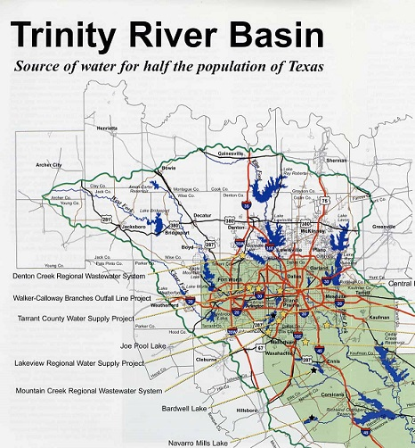 Trinity River Basin partial map