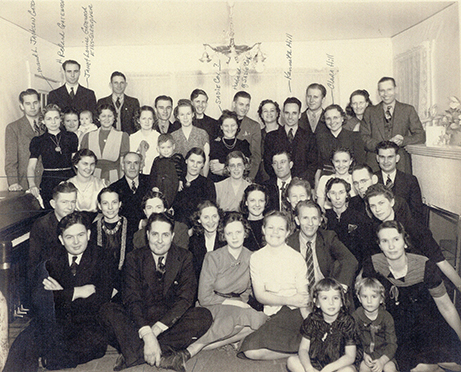 Sunday School Class, Christmas Party, 1939