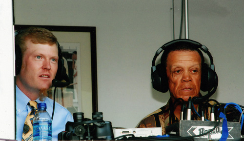 Rush Olsen and Maury Wills at Cats Game