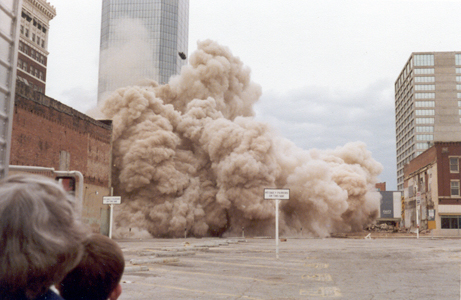 implosion of the Westbrook Hotel in 1978
