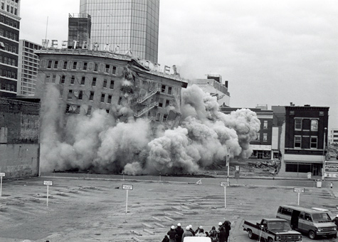 Westbrook Hotel Implosion 1978