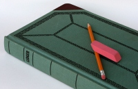 Ledger Book with pencil and eraser