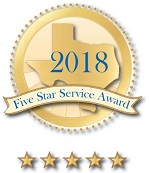 2018 five star service award logo