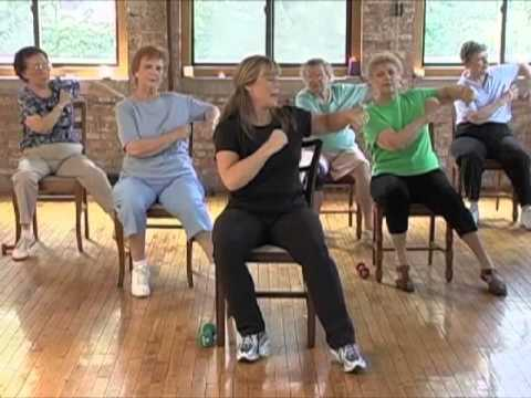 Image of women doing chair aerobics