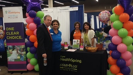 CIGNA Booth Photo with Judge Whitley