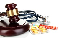 Gavel and medicine