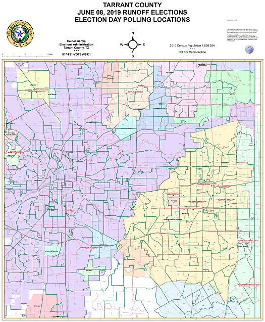 June 8, 2019 Joint Runoff Election Day Polling Locations Map