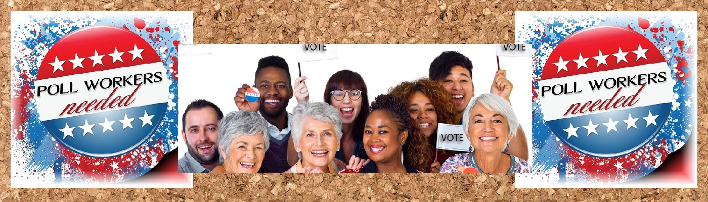 Image of Poll Workers on a cork board