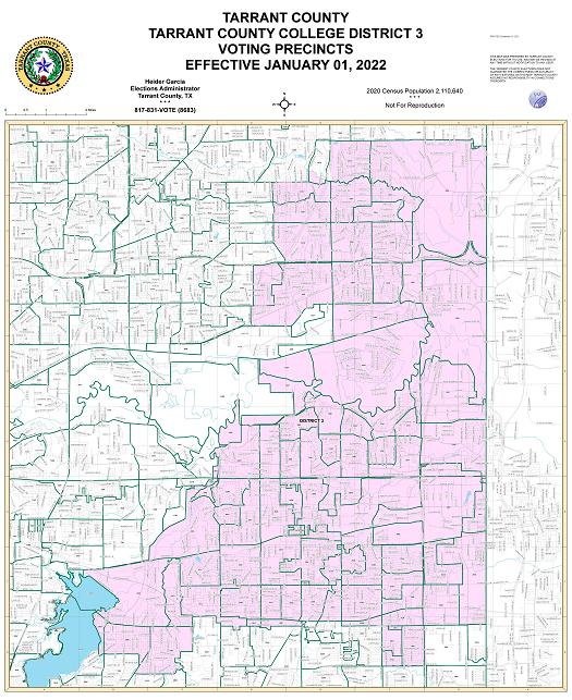 Tarrant County College District 3 Map