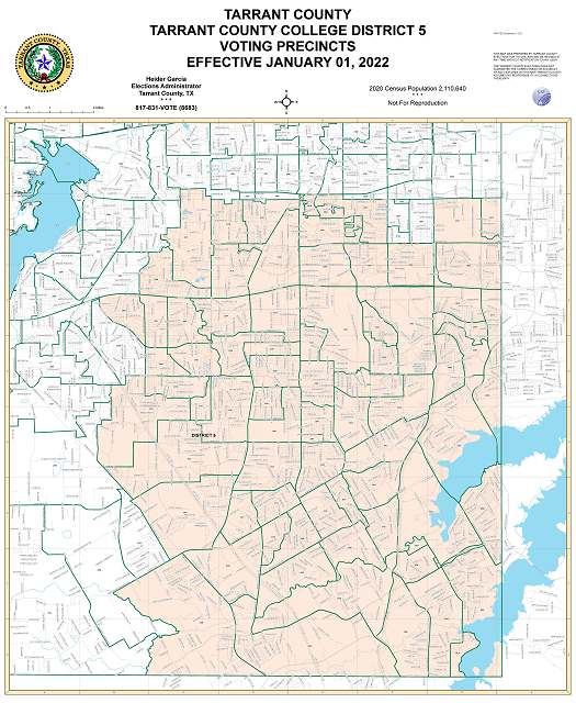 Tarrant County Map Tarrant County College District 5 Map