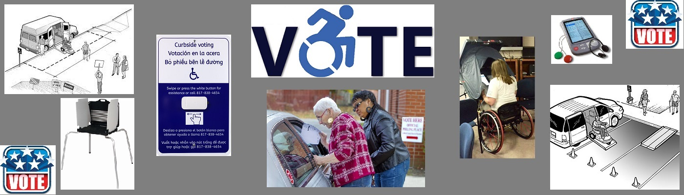 Images encouraging voters with disabilities to vote.