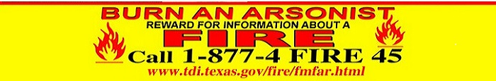 Burn an Arsonist. Reward for information about a fire. Call 1-877-4-FIRE-45