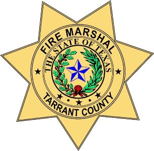 Tarrant County Fire Marshal badge