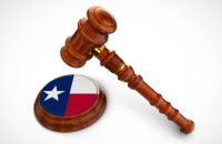 Court Gavel with Texas flag design
