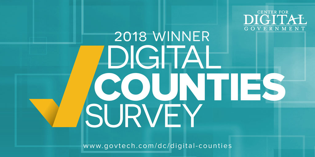2018 Winner Digital Counties Survey Logo