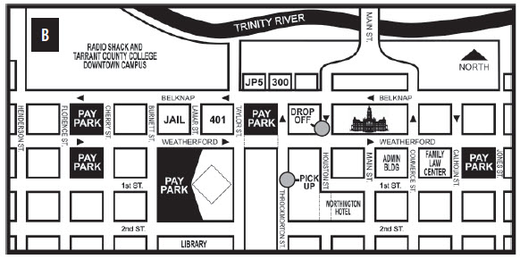 LaGrave Field parking map