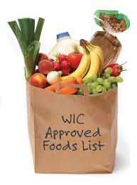 Approved WIC Foods in a bag