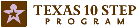 Texas 10 Step Program logo.