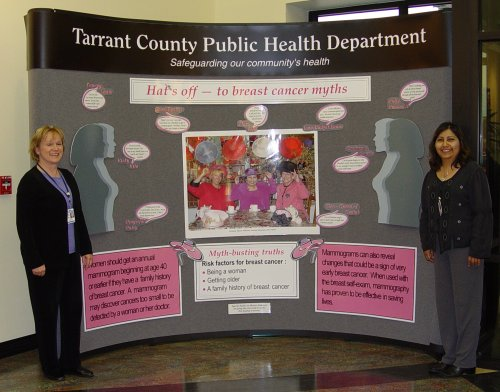 Tarrant County Breast Cancer Awareness Booth Display