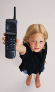 Child holding phone