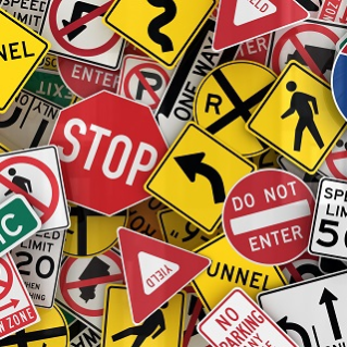 assorted road signs