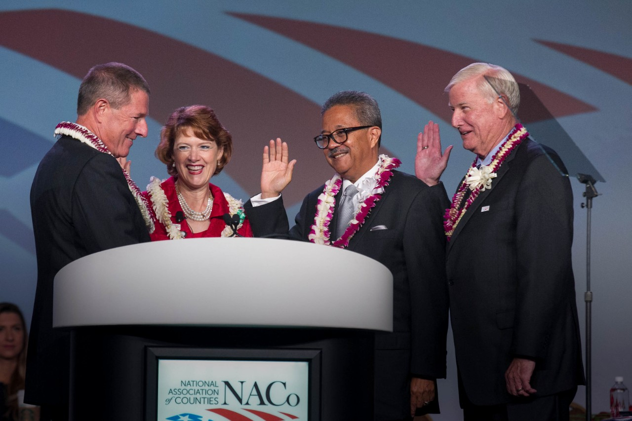 Commissioner Brooks swearing in as NACo First VP