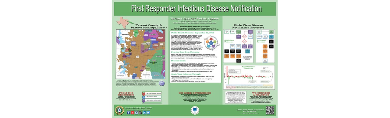 First Responder Infectious Disease Notification poster