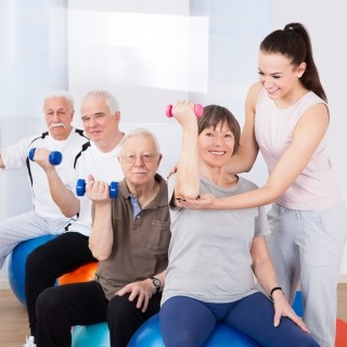 Group exercises for Seniors