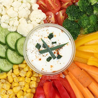 Vegetable Tray with Low-fat Dip