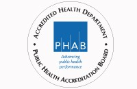 PHAB logo, Accredited Health Department, Public Health Accreditation Board, Advancing Public Health Performance
