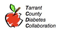 Tarrant County Diabetes Collaboration logo (artsy apple with bite missing))