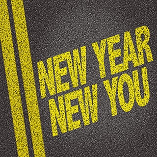 words painted on street, New Year New You
